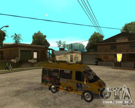 Gaz gazela 2705 Minibus para GTA San Andreas vista direita