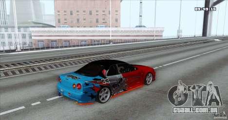 Nissan Skyline R34 Evil Empire para GTA San Andreas esquerda vista