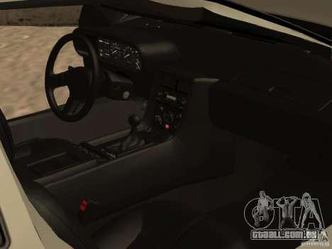 DeLorean DMC-12 para GTA San Andreas vista inferior