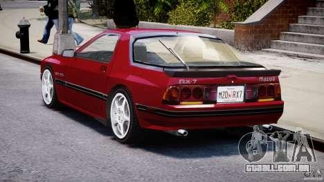 Mazda RX7 FC3S v2 FINAL para GTA 4 traseira esquerda vista