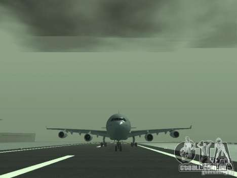 Airbus A340-300 Air France para GTA San Andreas vista traseira