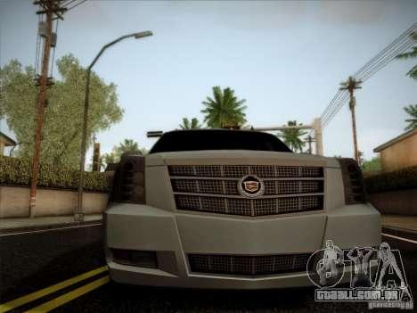 Cadillac Escalade ESV Platinum para GTA San Andreas vista direita