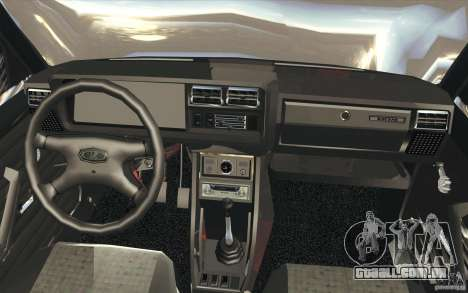Lada VAZ-2107 rua Drift afinado para GTA San Andreas vista superior