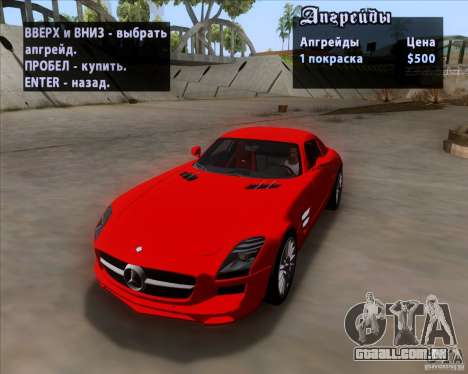 Mercedes-Benz SLS AMG V12 TT Black Revel para GTA San Andreas vista interior