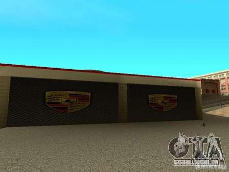 Porsche garagem para GTA San Andreas por diante tela