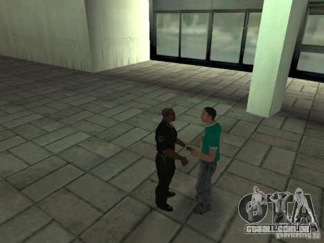 SFnews ou a oportunidade de dar uma entrevista para GTA San Andreas por diante tela
