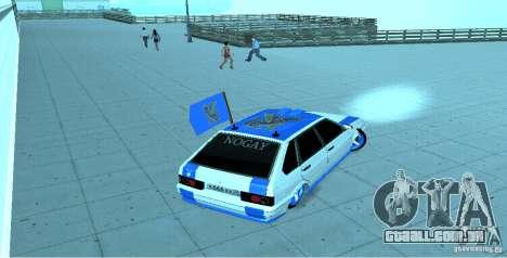 Ваз 2114 Nogai Tun para GTA San Andreas traseira esquerda vista