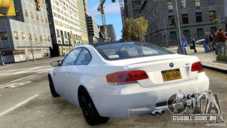 BMW M3 E92 2008 v1.0 para GTA 4 traseira esquerda vista