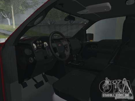 Ford F-150 2005 para GTA San Andreas vista interior