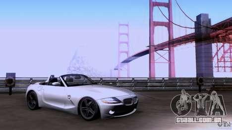 BMW Z4 V10 para GTA San Andreas traseira esquerda vista