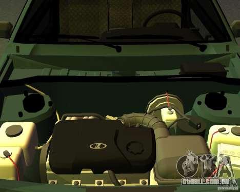 VAZ 2113 para GTA San Andreas vista traseira