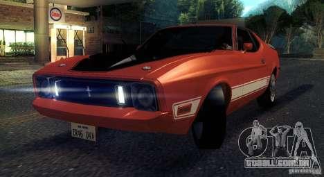 Ford Mustang Mach1 1973 para GTA San Andreas vista interior