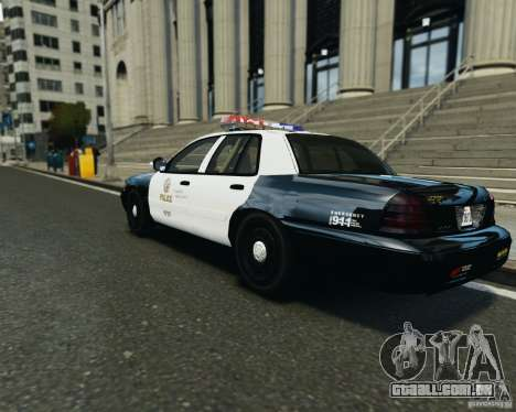 Ford Crown Victoria LAPD para GTA 4 vista direita