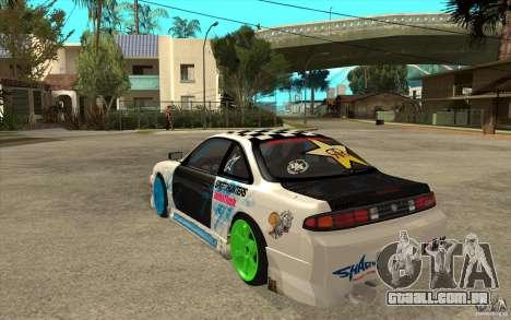 Nissan Silvia S14 Drift Bomb para GTA San Andreas traseira esquerda vista