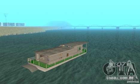 CASA NA ÁGUA para GTA San Andreas esquerda vista