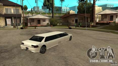 Limusine do sultão para GTA San Andreas vista direita