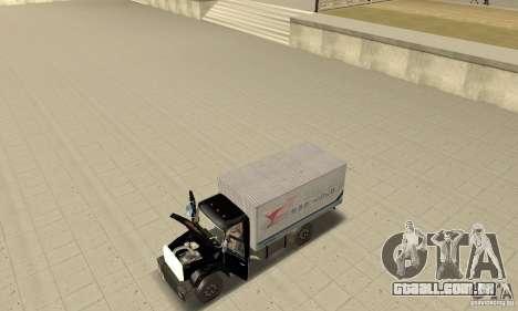 ZIL 433112 com tuning para GTA San Andreas vista traseira