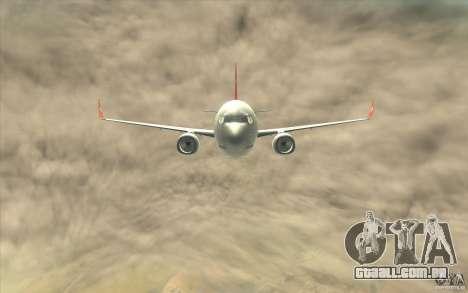 Boeing 737-800 THY para GTA San Andreas vista interior
