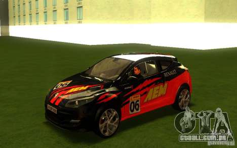 Renault Megane RS para GTA San Andreas vista interior