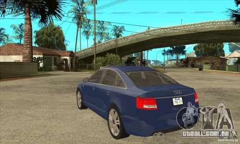 Audi S6 Limousine V1.1 para GTA San Andreas traseira esquerda vista