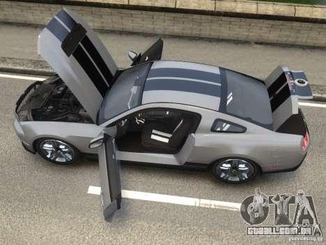 Shelby GT500 2010 para GTA 4 traseira esquerda vista