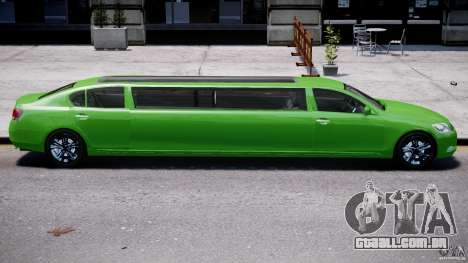 Lexus GS450 2006 Limousine para GTA 4 motor