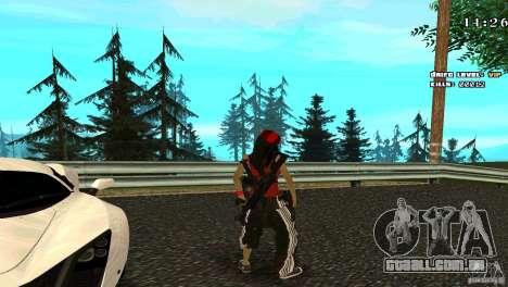 Chicano Chick Skin para GTA San Andreas terceira tela
