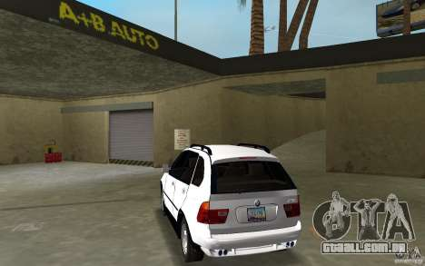 BMW X5 para GTA Vice City vista traseira esquerda