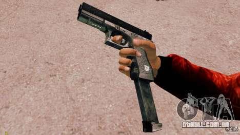 Glock 18 Akimbo (preto/cinza) para GTA 4
