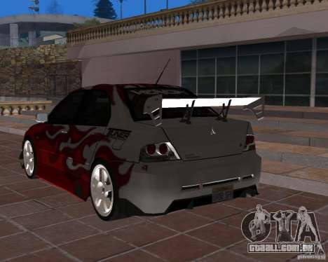 Mitsubishi Lancer Evolution VIII para GTA San Andreas vista interior
