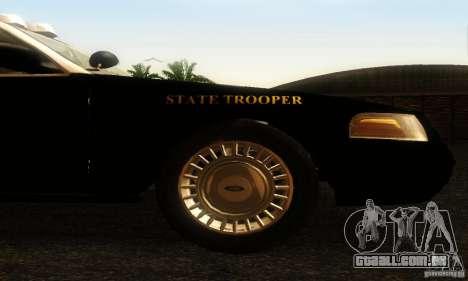 Ford Crown Victoria Wyoming Police para GTA San Andreas vista direita