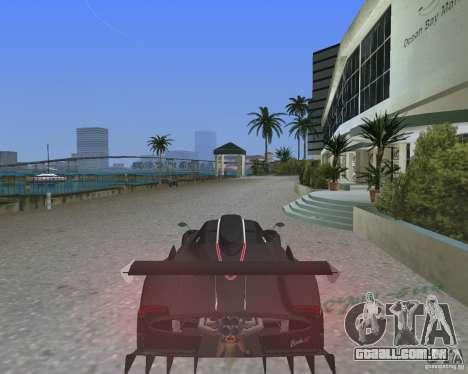 Pagani Zonda R para GTA Vice City deixou vista