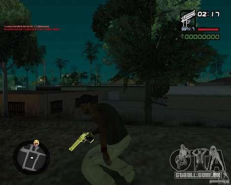 Desert Eagle GOLD para GTA San Andreas segunda tela