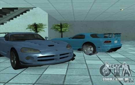 Dodge Viper SRT10 ACR para GTA San Andreas traseira esquerda vista