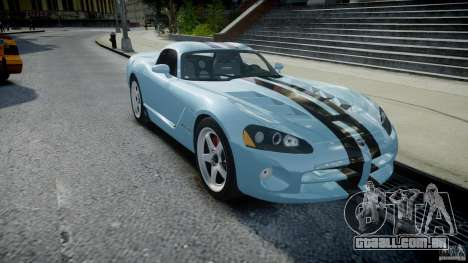 Dodge Viper SRT-10 para GTA 4 vista de volta