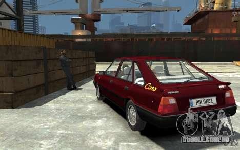 FSO Polonez Caro 1.4 16V para GTA 4 traseira esquerda vista