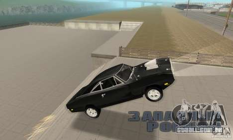 Dodge Charger RT 1970 The Fast & The Furious para GTA San Andreas vista superior