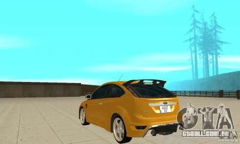 Ford Focus RS para GTA San Andreas traseira esquerda vista