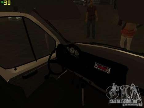 Ambulância de gazela 32214 para GTA San Andreas vista superior