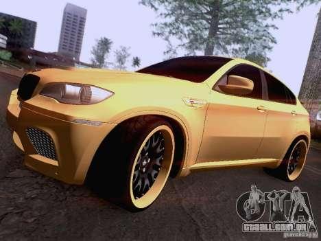 BMW X6M Hamann para as rodas de GTA San Andreas