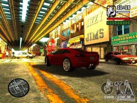 Lotus Europe S para GTA San Andreas traseira esquerda vista