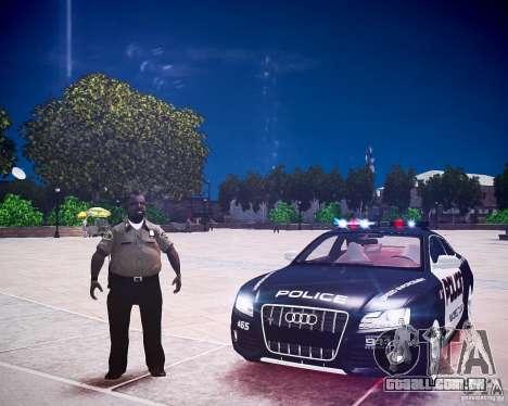 Audi S5 Police para GTA 4 vista de volta
