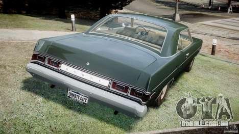 Dodge Dart 1975 [Final] para GTA 4 traseira esquerda vista
