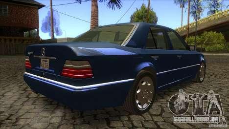 Mersedes-Benz E500 para GTA San Andreas vista interior