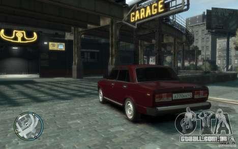 VAZ 2107 para GTA 4 esquerda vista