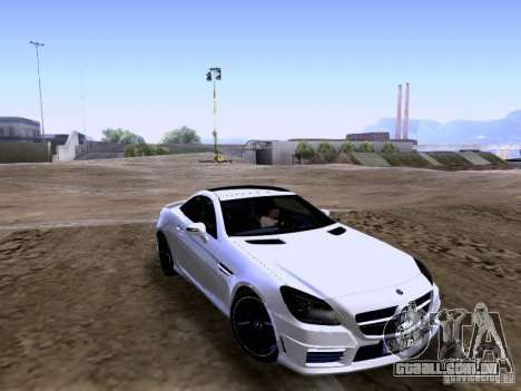 Mercedes-Benz SLK55 AMG 2012 para GTA San Andreas esquerda vista