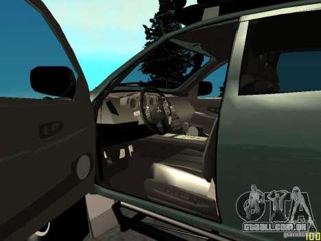 Mitsubishi L200 para GTA San Andreas traseira esquerda vista