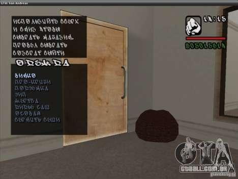 A fonte do NFS MW V2 para GTA San Andreas por diante tela