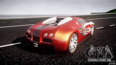 Bugatti Veyron 16.4 v1 para GTA 4 traseira esquerda vista