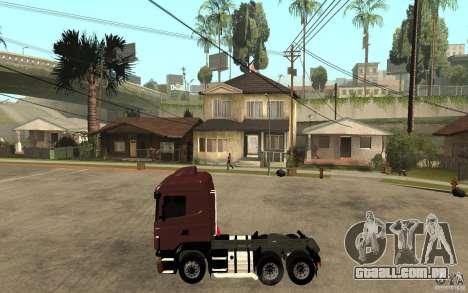 Scania 124 R480 6x4 Truck 1 para GTA San Andreas esquerda vista